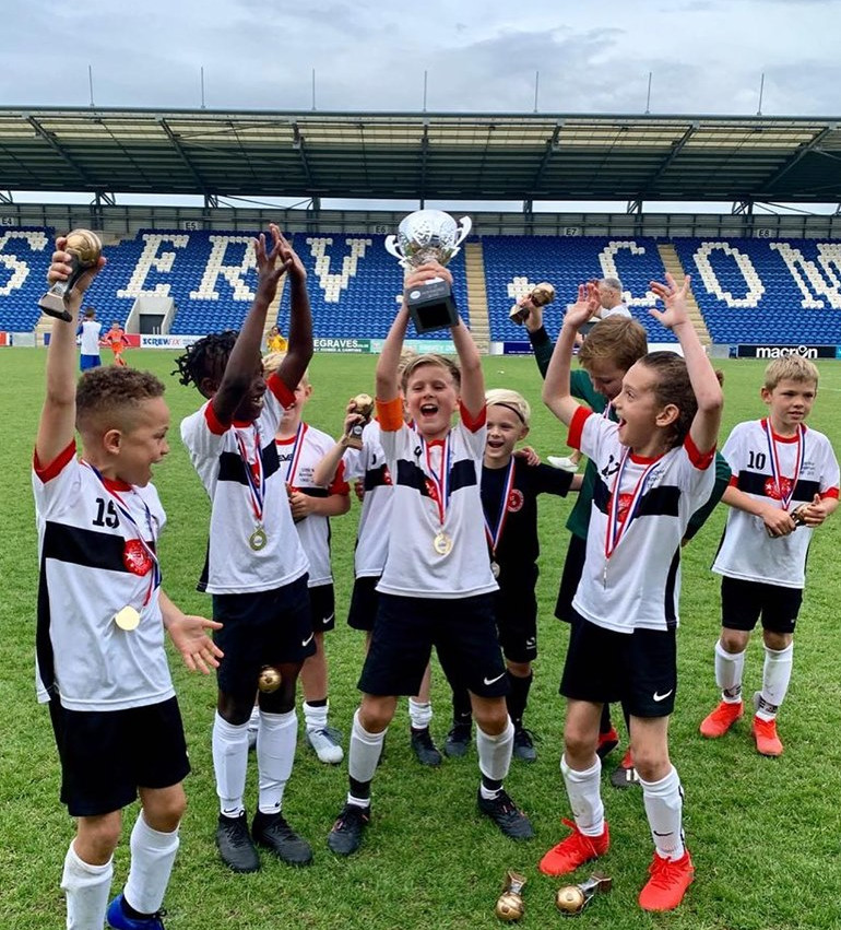 U9 Falcons winning the Colchester tourna