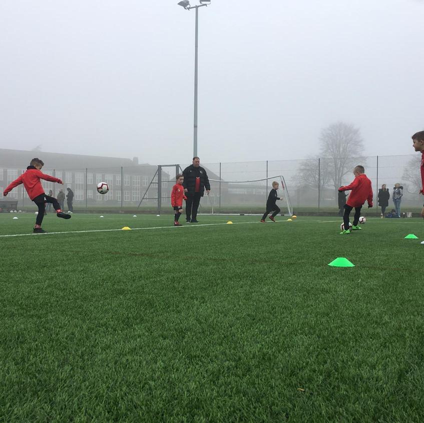 Football training at FB8