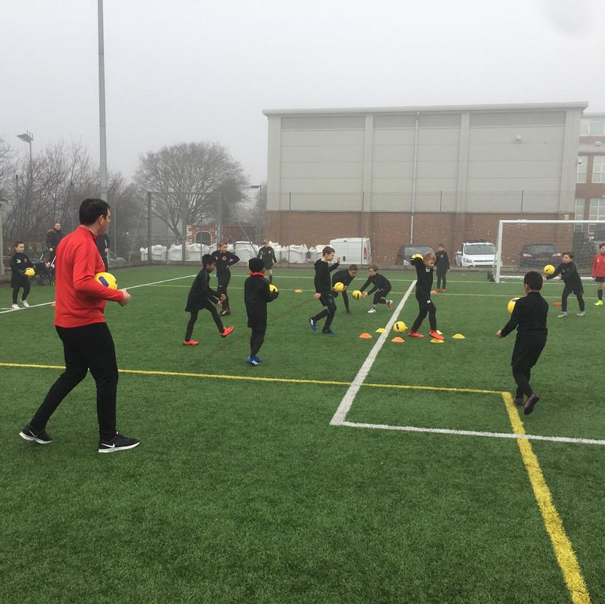 Football training at FB2
