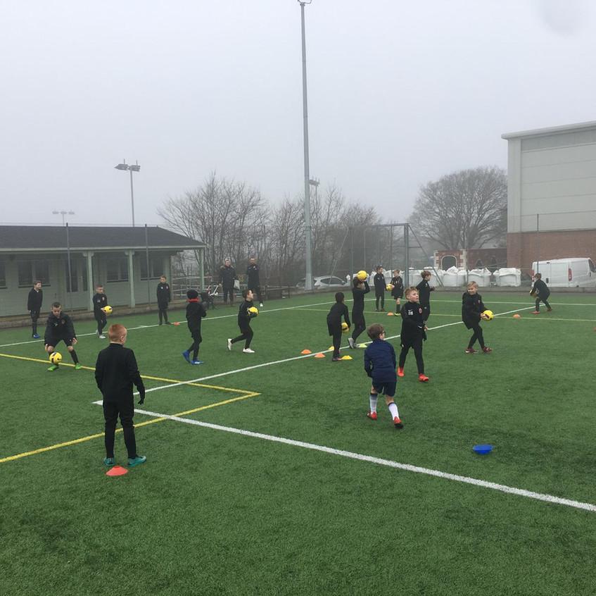 Football training at FB1