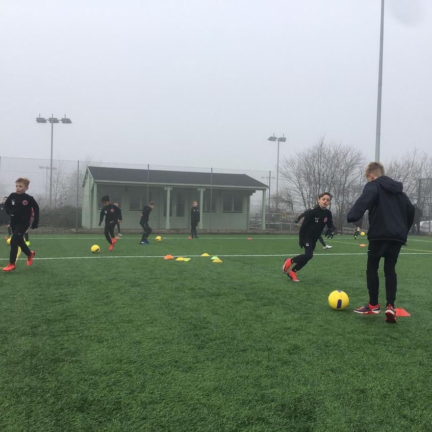Football training at FB4
