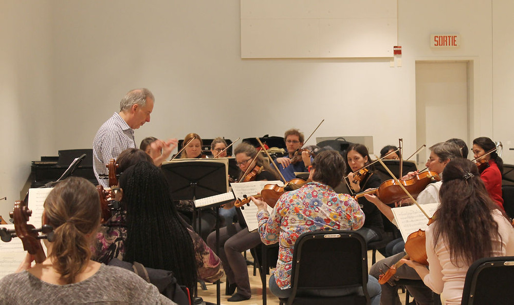 Conductor Louis Lavigueur and Ensemble Sinfonia de Montréal