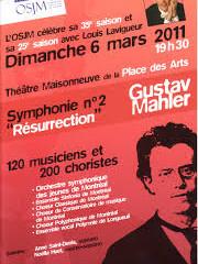 «Symphonie no.2 dite Résurrection» de Gustav Mahler