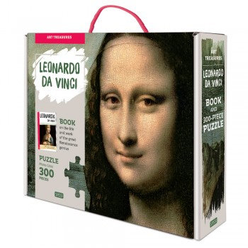 300 Piece Leonardo da Vinci Mona Lisa Puzzle and Book
