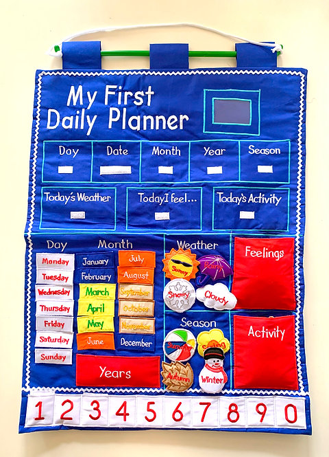 My First Daily Planner Wall Hanging