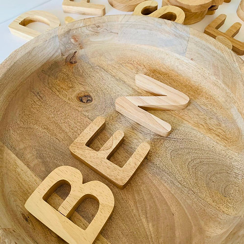 Large Natural Capital Letters 26 Piece