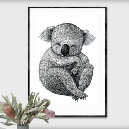 A2 Fine Art Print – Koala