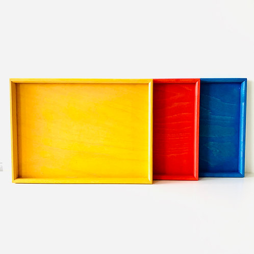 Bauspiel Colourful Wooden Sorting Tray Each