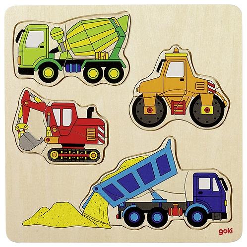 Goki Building Site Vehicle Puzzle