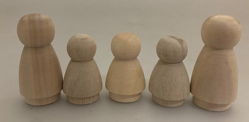 Papoose Wood Family Set of 5