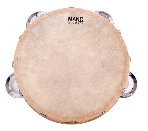 Mano Percussion 6 Inch Wood Tambourine with Calf Skin