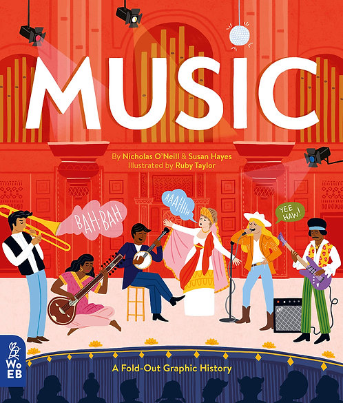 Music : A Fold-Out Graphic History (Hardcover)
