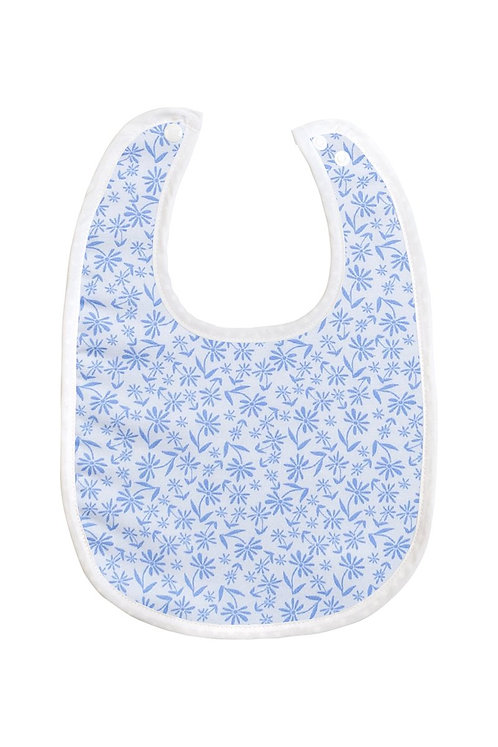 Bamboo Baby Bib - Blue Floral