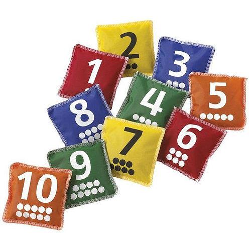 1-10 Number Bean Bags