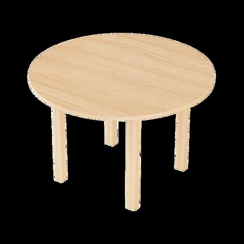 Montessori toddler round TABLE 90cm solid European beech wood