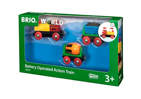 BRIO Battery Operated Action Train with Light 3 Pcs