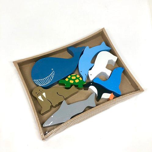 Timber Sea Animals 8 Pieces