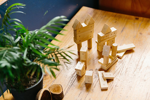 30 Pieces Magnetic Wooden Blocks