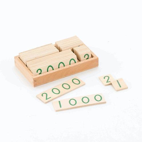 Wooden Number Cards (1-9000)