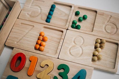 QToys Jumbo Counting and Writing Tray