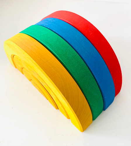 Bauspiel Stackable Rainbows Set - 16 pieces