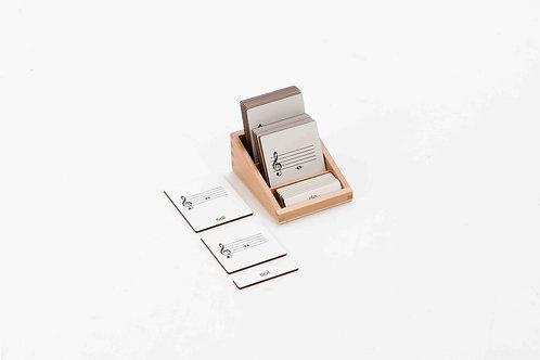 Music Notes Three-Segment Card-Including Box 音符名称三段卡-含盒子