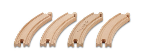 4 Pc Curved Train Track