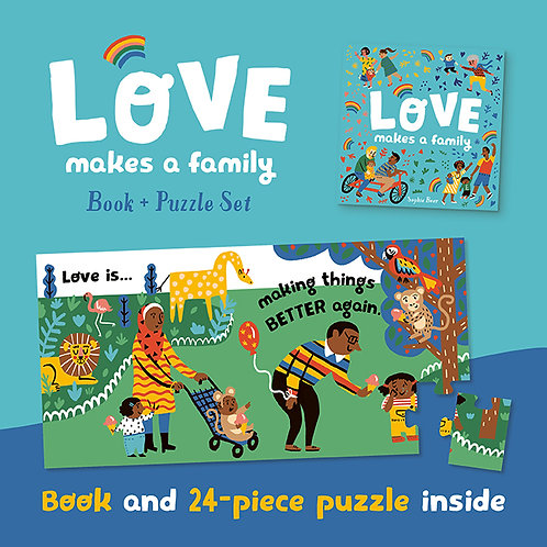 Love Makes a Family Book and Puzzle Set
