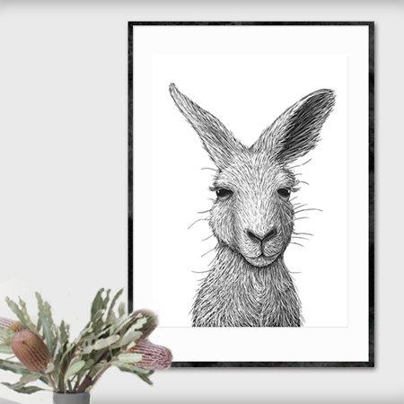 A2 Fine Art Print – Hello Roo