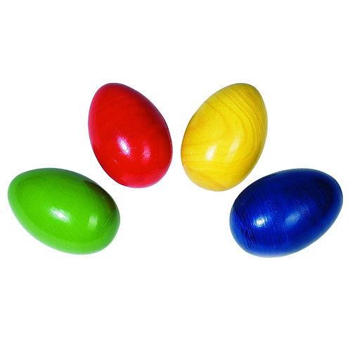 Goki Colourful wooden Egg Shaker EACH