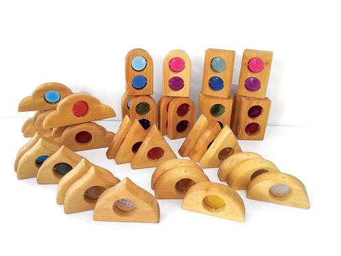 Bauspiel Discovery Window Shapes - 36 pieces