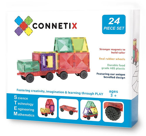 Connetix Tiles 24p Car Pack (Old Packaging)