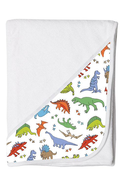 Hands Free Baby Bath Towel - Dinosaur