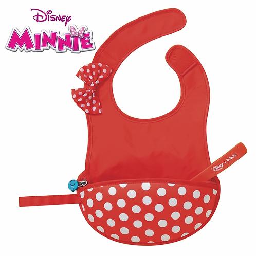 DISNEY - Minnie Mouse Travel Bib + Flexible Spoon