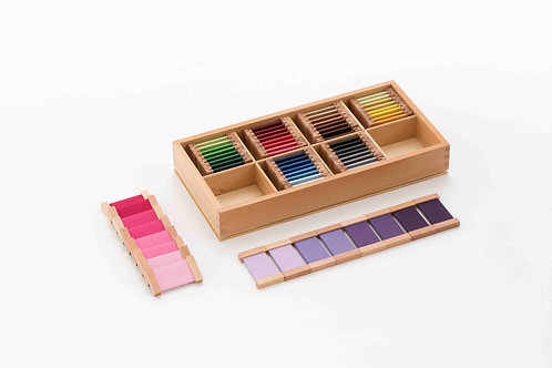 Silk Fourth Box of Colour Tablets (32 pairs) (Wooden Holder)