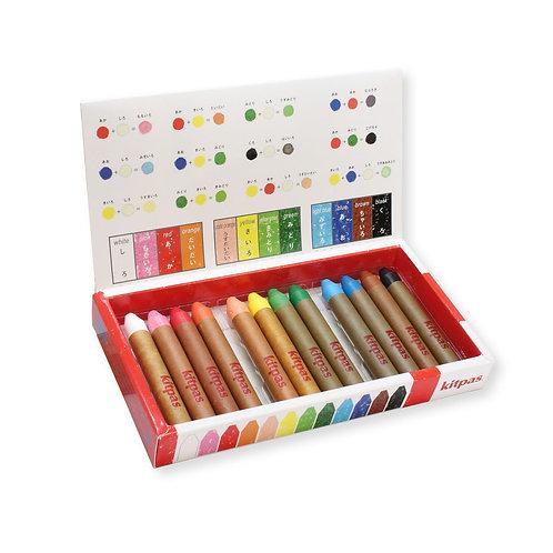Kitpas Medium Stick Crayons 12 Colours