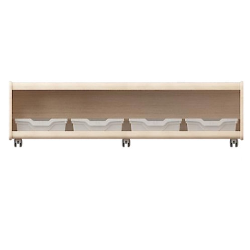 Ultimate Storage Units Closed-Back 120 x 45 x 42cm Solid European Beech