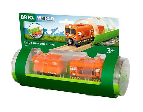 BRIO Cargo Train & Tunnel 3 Pcs