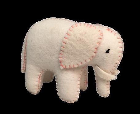 White Elephant Pink Stitching