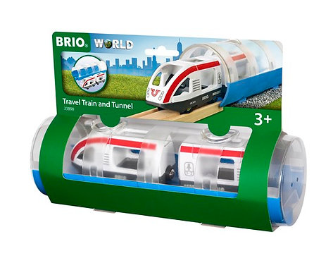 BRIO Travel Train & Tunnel 3 Pcs
