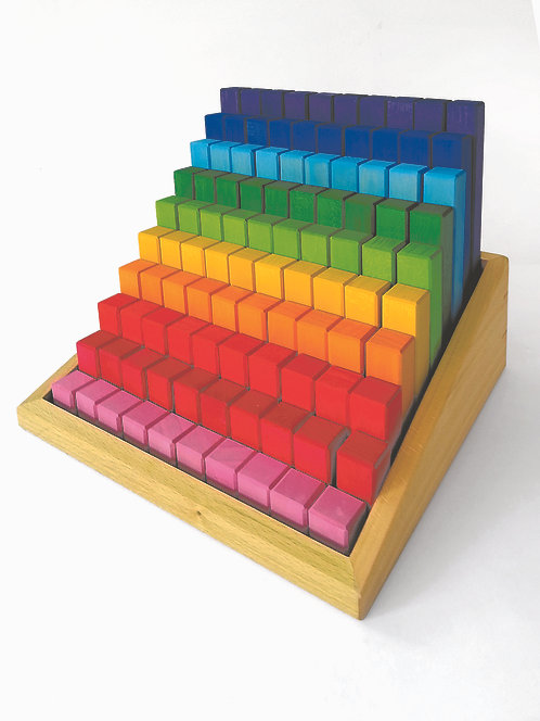 Bauspiel Stepped Counting Colour Blocks 100pc