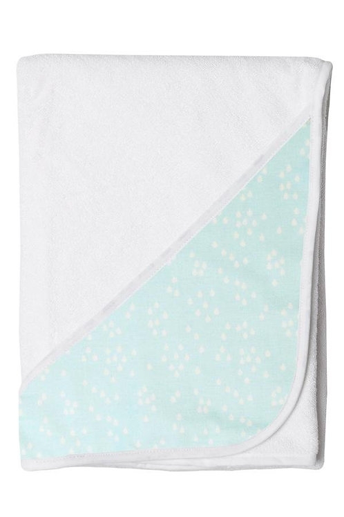 Hooded Toddler Towel - Blue Rain