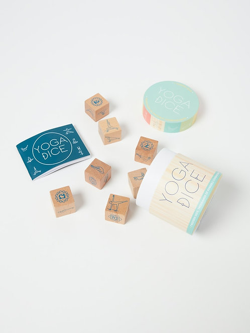 Yoga Dice - 7 Wooden Dice, Thousands of Possible Combinations!