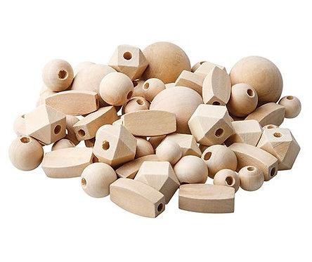 Wooden Beads Natural Asst 92's