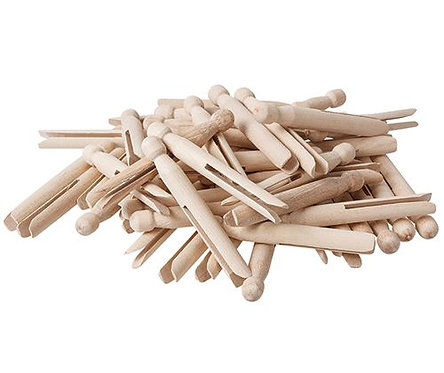 Dolly Pegs Natural 11cm 60's