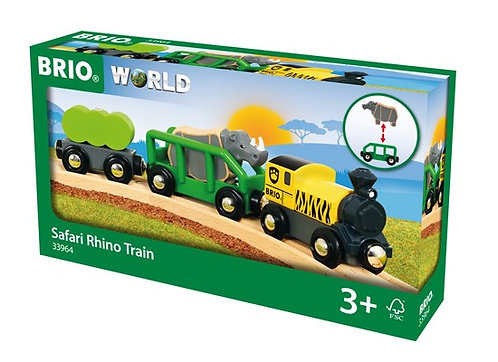 BRIO Safari Rhino Train 5 Pcs