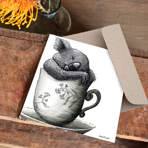 Notecard: Tea Cozy Koala