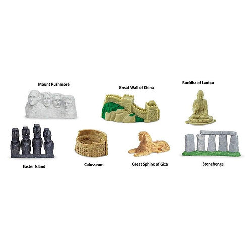 World Landmarks Montessori Language Figurines Collection
