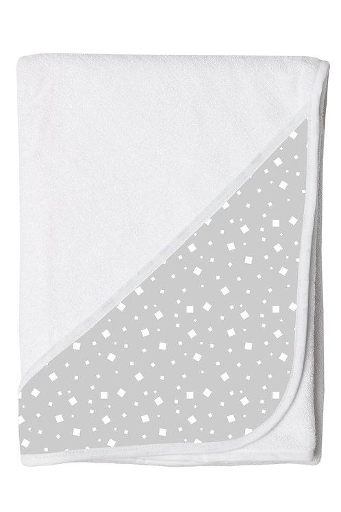 Hands Free Baby Bath Towel - Grey Squares