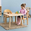 Thumbnail: Montessori Toddler (12 - 36 months) CHAIR WITH ARM Solid European Beech Wood